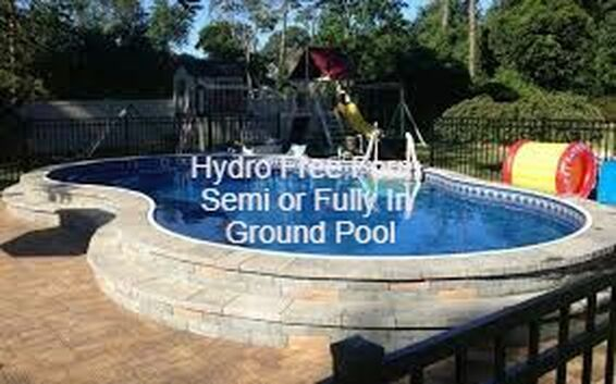 semi in ground freeform pool, radiant type free form in ground pool