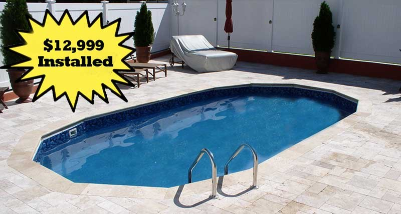 Long Island In Ground Patio Pools Installed $12999