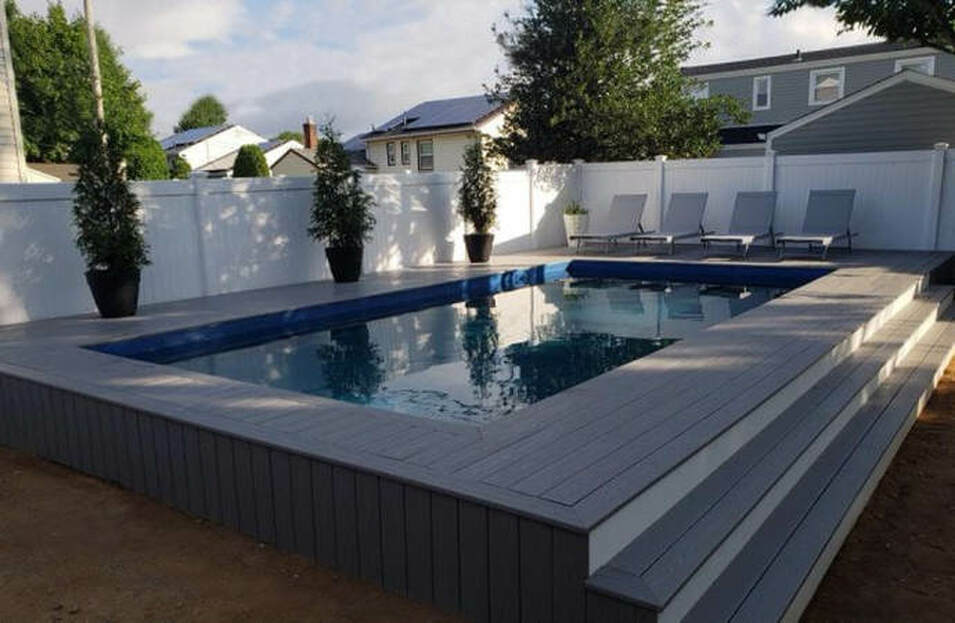 Rectangle Above Ground Pool, Rectangle Semi Inground Pool, Rectangle Radiant Style Pool, Rectangle in ground insulated pool